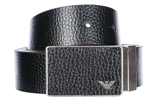 Emporio Armani Men's Designer Belt Gift Box, Black/Black, One ()