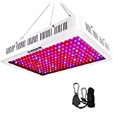 HIGROW 1500W Double Chips LED Grow Light Full Spectrum Grow Lamp with Rope Hanger for Indoor Greenhouse Hydroponic Plants Veg and Flower