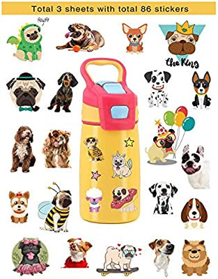 🐶 HaokHome S-005 86pcs Cute Cartoon Dog Stickers for Teens Kids