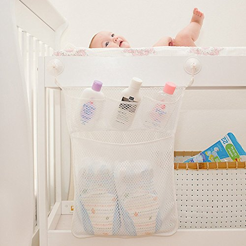 bath baby toy organizer bathroom tub storage mesh bag 4 bonus suction cups hook bath tub toy. Black Bedroom Furniture Sets. Home Design Ideas