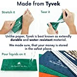 Clever Fox Cash Envelopes for Budget System - Money Envelopes for Budgeting and Saving, 12 Pack of Assorted Colors, Tear and Water Resistant, Includes Carry Pouch & 12 Expense Tracking Budget Sheets