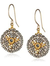 Small Round Soft Pewter Drop Earrings
