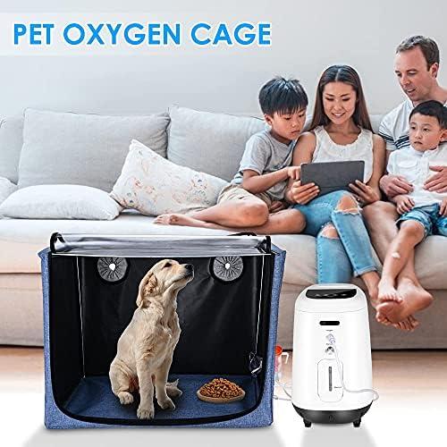 GJCrafts Animaux Parc avec Couverture, Portable Pliable pour oxygène Animal ICU Cage, Parc Doux Pet pour Cage à oxygène boîte d'atomisation pour Le Traitement de la Respiration Contre la toux