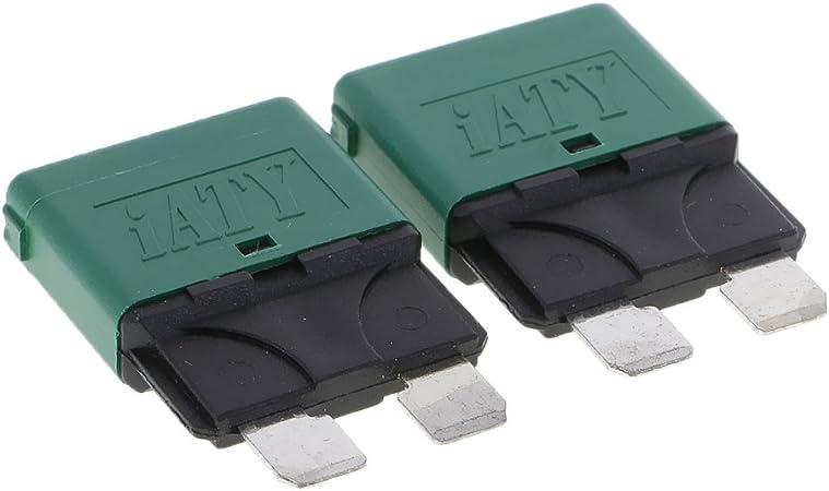 Magideal 12v Auto Rückstellbare Mini Klinge Sicherung Manuelle Leistungsschalter 30a Grün Auto