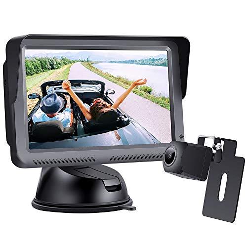 1080P Digitale Bedrade Achteruitkijkcamera-kit, Het Besturen Van Hoge Snelheid Observatie Systeem 5 Inch Monitor, Met…