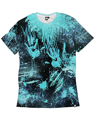 INTO THE AM Infected Nuclear Men's Halloween Costume Casual Tee Shirt (X-Large)