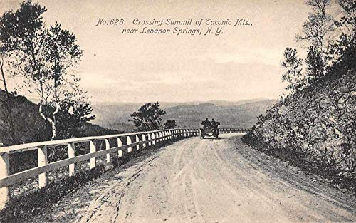 Lebanon Springs New York Taconic Mts Automobile Crossing Summit PC JB627100