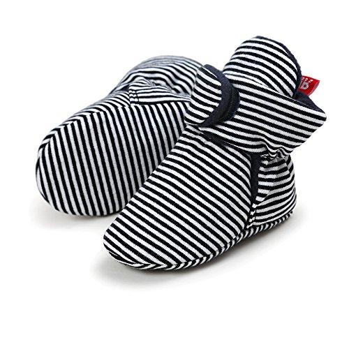 Upxiang Kleinkind-Stiefel, Baumwoll-weiche Schuhe, Unisex-Baby-weiche Sole-Schnee-Aufladungen, Krippe-weiche Schuhe, Babyschuhe Winter Schwarz