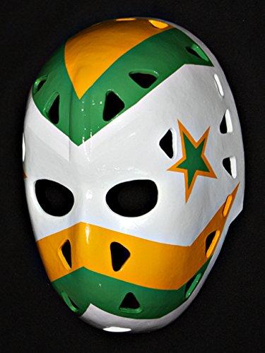 1:1 Custom Vintage Fiberglass Roller Air Ice Hockey Goalie Mask Helmet Gilles Meloche HO47