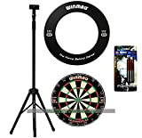 Darts Master Dartboard Stand Bundle - Stand, Board and Surround