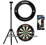 Darts Master Dartboard Stand Bundle - Stand, Dartboard and Surround