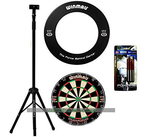 Darts Master Dartboard Stand Bundle - Stand, Dartboard and Surround by Masters Traditional Games