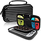 Hard Carrying Case Compatible with Nintendo Switch - Protective Hard Portable Travel Carry Case Shell Pouch for Nintendo Switch Console & Accessories