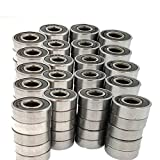 100 pack 608-2RS Skateboard Bearing,Rolling bearings, 8x22x7