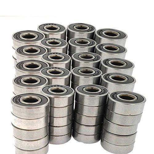 100 pack 608-2RS Skateboard Bearing,Rolling bearings, 8x22x7 by SACKORANGE