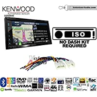 Kenwood Excelon DNX694S Double Din Radio Install Kit with GPS Navigation System Android Auto Apple CarPlay Fits Non Amplified 1987-2009 Toyota 4Runner, 1987-2015 Camry, 1995-2015 Tacoma
