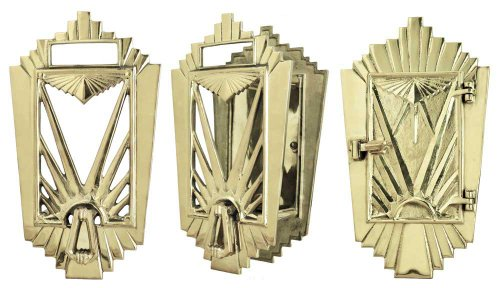Art Deco Door Grille Speakeasy Set -