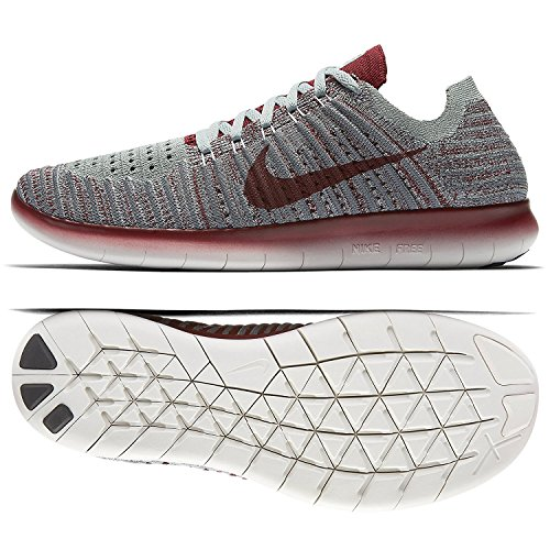 Wolf Red Grey Chaussures Entrainement WMNS de Cool NIKE Running Green Femme Team RN Free Mica Flyknit Grey qxzaIx71w