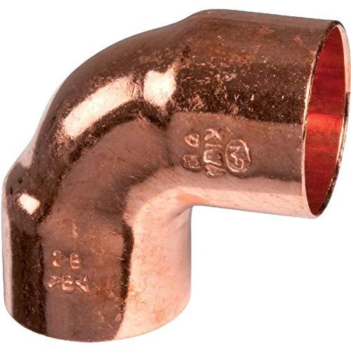 Femelle petit rayon /Ø 8 mm Raccord cuivre coud/é 90/° /à souder Frabo