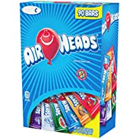 90-Count AirHeads Chewy Fruit Taffy Halloween Candy Bars (Variety Pack, 0.55oz)
