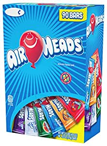 Airheads Bars, Chewy Fruit Candy, Variety Pack, 90 Count 3.1lbs