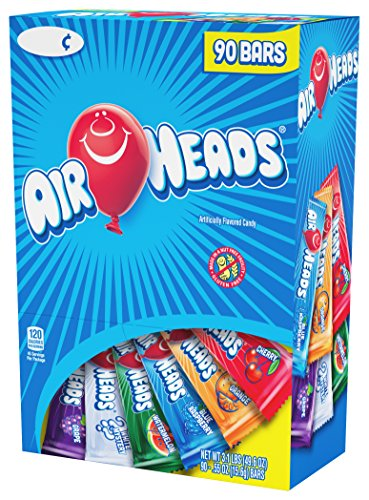 Airheads Bars, Chewy Fruit Candy, Variety Pack, Non Melting Easter Basket Candy, 90 Count 3.1lbs