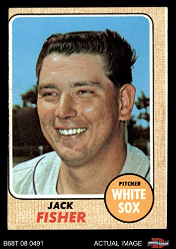 1968 Topps # 444 Jack Fisher Chicago White Sox (Baseball Card) Dean's Cards 3 - VG White Sox