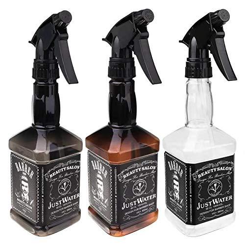 - 3pcs Empty Plastic Spray Bottle 150ml Hair Salon Barber Shop Spray Bottle Oil Sprayer Water Sprayer Bottle(Clear,Brown,Smoke gray)650ml