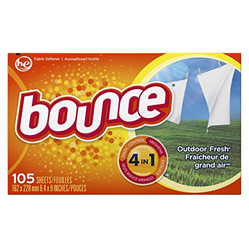 Bounce Fabric Softener Sheets, Outdoor Fresh, 105 Count (Bounce Spring Sheets Dryer)
