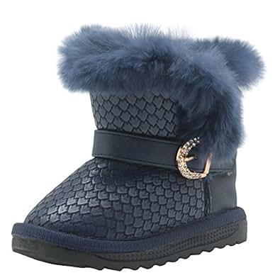 Amazon.com | Non-Slip Toddler Shoes Girls Warm Winter Flat