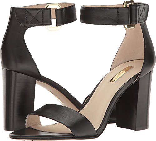 Louise et Cie Women's Kai Ankle Strap Sandal,Black Aspen Calf,US 8.5 M (Aspen Simplicity)