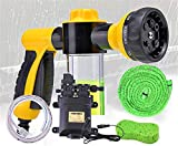 xiaohan Double Pump Foam Water Gun high Pressure car wash Water Gun Household Foam Watering can Brush car Pressure Water Gun Nozzle Tool