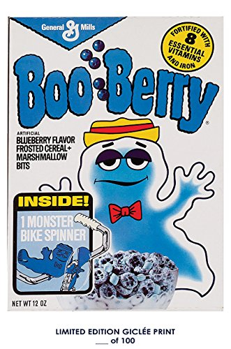RARE POSTER thick BOO-BERRY ad 1980s general mills CEREAL REPRINT #'d/100!! (Rare Vintage Poster)