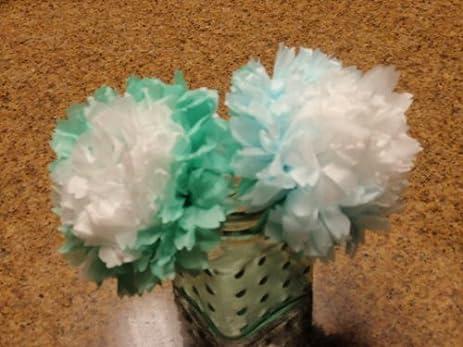 Amazon pom pom tissue paper flower kit blue gradient pom pom tissue paper flower kit blue gradient mightylinksfo Image collections