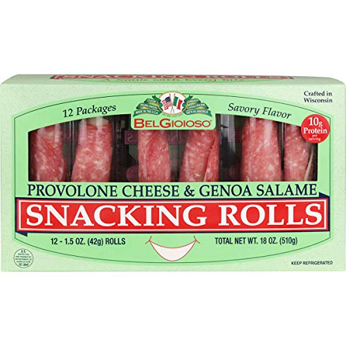 - BelGioioso Snacking Rolls, Provolone Cheese & Genoa Salame, 18 oz (2 Pack)