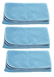 Real Clean Professional Grade Premium Ultra-Microfiber Extra Thirsty Big Blue Automotive Drying Towel 25\
