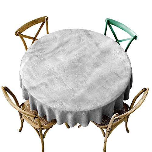 LsWOW 65 Inch Grid Round Table Cloth Marble Soft Pastel Onyx Effects Great for Traveling & -