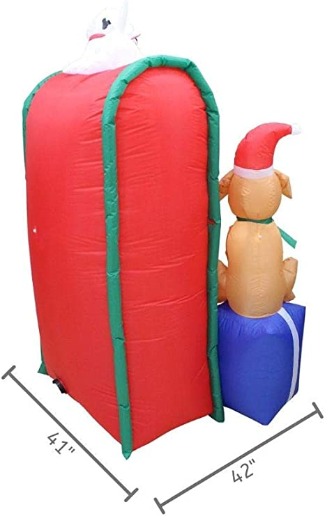 Impact Canopy Christmas Inflatable Decoration Outdoor Holiday Lighted Mailbox With Dog 6 Tall Amazon Ca Patio Lawn Garden