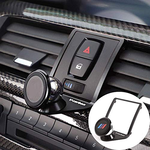 YIWANG 3 Colours Alumium Alloy Mobile Phone Holder Trim for BMW 1 2 3 4 Series GT F22 F23 F30 F31 F34 F32 F33 F34 F35 F36 F80 F82 M4 2013-2019 Car Accessories (Black)