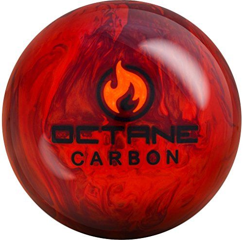 Motiv Octane Carbon Bowling Ball, Red/Orange/Black, 16 lb by Motiv