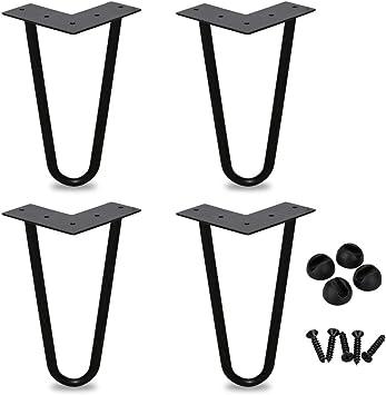 gambe mobili in metallo fai-da-te perfette per tavolino BMOT Gambe a forcella 6 pollici set di 4 tavolo da pranzo scrivania di design