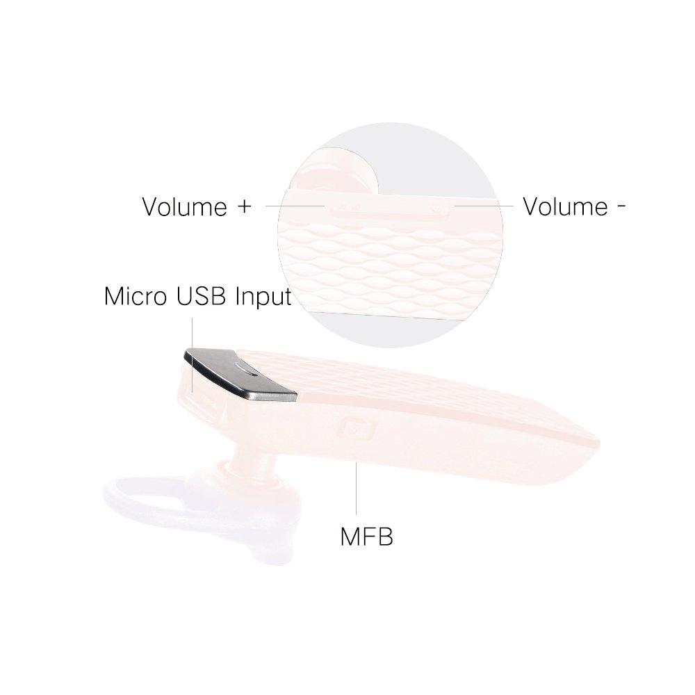 Bluetooth Earpiece Sports In-Ear RB-T9 – Pink