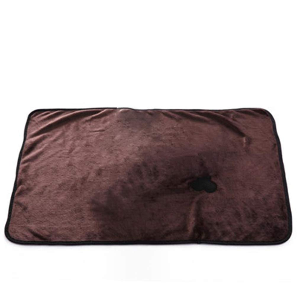 Brown Jim Hugh Small pet Dog cat Bed Warm Pet Pad Dog Cat Bones Soft Carpet Comfortable Mattress Blanket Warm Cat Bed House