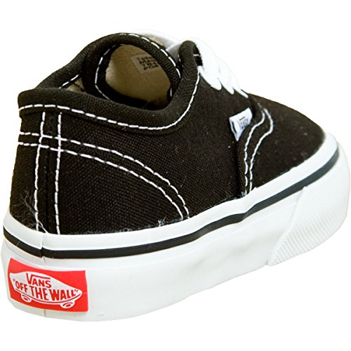 Bebé Vans Black Mocasines Niños Authentic AHWaH
