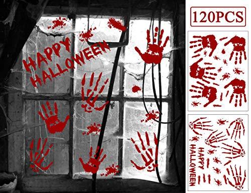 120PCS Halloween Window Clings Stickers Decals, Vampire Zombie