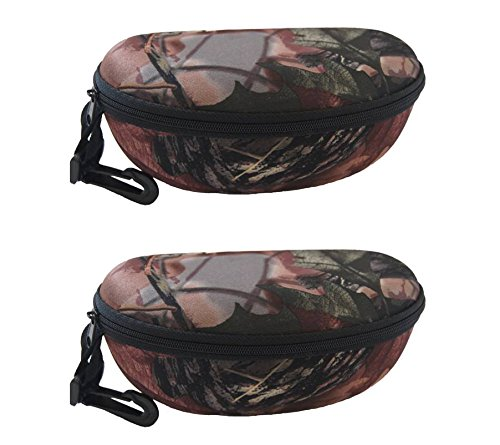 Andevan Protective Eyeglasses/sunglasses Case W/clip& Belt (Pack of 2) (Tree - Case Camo Glasses