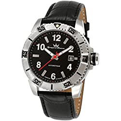 Yonger & Bresson Men's YBH 8319-01 C Black dial watch.