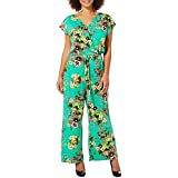 1dcf7e2d859 Harlow and Rose Womens Floral Tie Waist Jumpsuit