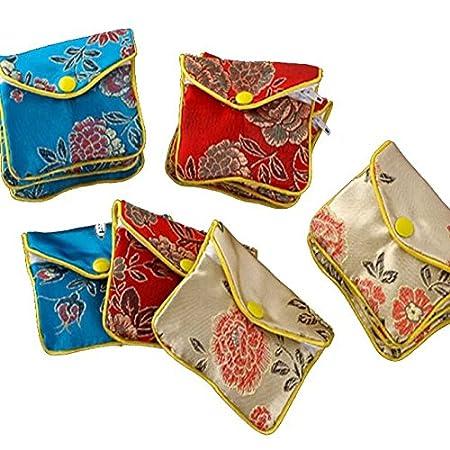 12026dcde Liroyal 3pcs x Jewellery Jewelry Silk Purse Pouch Gift Bag Bags HOT: Amazon. co.uk: DIY & Tools