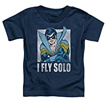 Nightwing DC Comics Superhero Retro Disco Costume I Fly Solo Little Boys Tod Tee